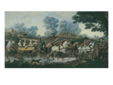 Hunt Meeting, engraved by Philibert Louis Debucourt Giclee Print by Antoine Charles Horace Vernet