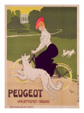 Poster Advertising Peugeot Bicycles, printed by G. Elleaume, c.1910 Giclee Print by Walter Thor