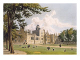 Charter House from the Play Ground, from part of Ackermann's 'History of Colleges' Giclee Print by William Westall
