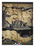 Birds and Flowers of the Four Seasons Giclee Print by Kano Soshu