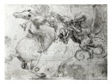 Battle between a Rider and a Dragon, c.1482 Giclee Print by Leonardo da Vinci 