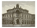 Exterior of Semper Opera House, Dresden, illustration from 'Meyers Konversations-Lexicon', c.1895 Giclee Print
