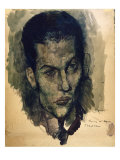 Portrait of Serge Lifar Giclee Print by Pavel Tchelitchev