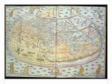 Map of the World, Based on Descriptions and Co-ordinates Given in 'Geographia' Giclee Print by  Ptolemy