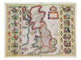 Britain As It Was Devided In The Tyme of the Englishe Saxons especially during their Heptarchy Giclee Print by John Speed