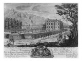Voltaire's House in Ferney, West Side, Engraved by Francois, Maria, Isidore Queverdo Giclee Print by Louis Signy