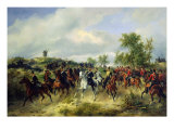 Prussian Cavalry on Expedition, c.19th Giclee Print by Carl Schulz