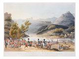 Fording of the River Mondego, engraved by C. Turner, 21st September 1810 Giclee Print by Thomas Staunton St. Clair