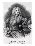George Frederick Handel, 1749 Giclee Print by Thomas Hudson