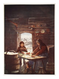 "Making ""Flad-Brod"": a Cottage Interior, 1905 Giclee Print by Nico Jungman"
