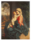 The Virgin and Child Embracing Giclée-tryk af Sassoferrato (Giovanni Battista Salvi)