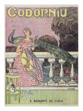 Poster Advertising Codorniu Champagne, 1924 Giclee Print by Juan Llaverias Llabro