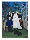 The Wedding Party, c.1905 Giclee Print by Henri Rousseau
