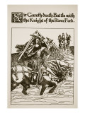 Sir Gareth Doeth Battle with Knight, Illustration, ''The Story of Sir Launcelot and His Companions' Giclee Print by Howard Pyle