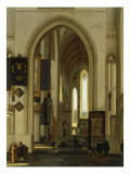 Interior of a Church with Figures, 1685 Giclee Print by Emanuel de Witte