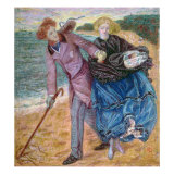 Writing on the Sand Giclee Print by Dante Charles Gabriel Rossetti