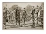 Majuba Day; General Cronje Surrenders to Lord Roberts, Paardeberg; from Sketch by Frederic Villers Giclee Print by Richard Caton Woodville