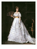 Woman in White Giclee Print by Alfred Emile Léopold Stevens