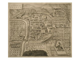 Map of Trento, from 'Les Villes De Venetie', 1704, Published by Pierre Mortier in Amsterdam Giclee Print by Pierre Mortier
