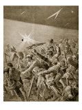 British Infantry Forcing their Way Through German Wire Entanglements, 1914-19 Giclee Print by Richard Caton Woodville