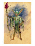 "Peaseblossom, costume design for ""A Midsummer Night's Dream"" Giclee Print by C. Wilhelm"