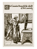 Sir Gawaine Knoweth the Shield of Sir Launcelot, Illustration from 'The Story of Sir Launcelot and  Giclee Print by Howard Pyle