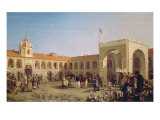 Apraksin Market in St. Petersburg, 1862 Giclee Print by Pyotr Petrovich Vereshchagin