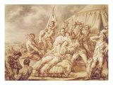 The Death of Marquis de Montcalm de Saint-Veran Giclee Print by Jean Antoine Watteau