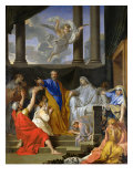 St. Peter Resurrecting the Widow Tabitha, 1652 Giclee Print by Henri Testelin