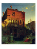 The House of Othello, the Moore in Venice, 1856 Giclee Print by Eduard Gerhardt
