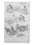 Street Traders, London, 1842 Giclee Print by George The Elder Scharf