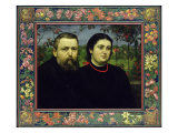 The Artist with his Wife Bonicella, 1887 Giclee Print by Hans Thoma