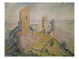 Landscape with a Ruined Castle Giclee Print by Paul Signac