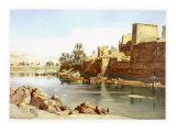 Temple of Isis at Philae, 1870 Giclee Print by Carl Friedrich Heinrich Werner