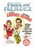 Pride and Prejudice, Australian Movie Poster, 1940 Print