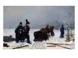 Alexander Pushkin's Duel with Georges D'Anthes, 1884 Giclee Print by Alexander Avvakumovich Naumov