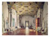 The Great Agate Hall in Catherine Palace in Tsarskoye Selo, 1859 Giclee Print by Luigi Premazzi