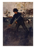 The Mower, 1904 Giclee Print by Nico Jungman