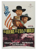 The Good, The Bad and The Ugly, Spanish Movie Poster, 1966 Giclee Print