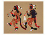 Dance of Dog Soldiers Giclee Print by Monroe Tsatoke
