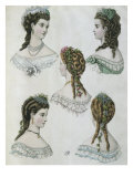 Hairstyles, Illustration from 'La Mode Illustree', 1860 Giclée-Druck von Anais Toudouze