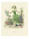 Vigne, Illustration from 'Les Fleurs Animees', 1847 Giclee Print by Grandville