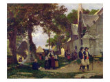 Church in Brittany Giclee Print by Otto Weber