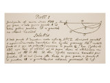 Facsimile of the Solution to the Problem of the Brachystochrone, or Curve of Quickest Descent Giclee Print by Sir Isaac Newton