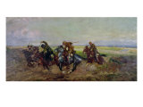 Polish Lancers Attacking Russians, 1920 Giclee Print by Leonard Winterowski