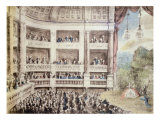 Scene at the Opera, C.1760 Giclee Print by Gabriel De Saint-aubin