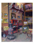 The Studio 50, rue Saint-Didier Giclee Print by Jules Ernest Renoux