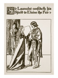 Sir Launcelot, Elaine the Fair, Illustration 'The Story of Sir Launcelot and His Companions' Giclee Print by Howard Pyle