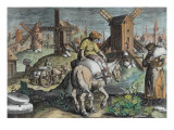Windmills, from 'Nova Reperta' Giclee Print by Jan van der Straet