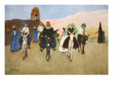 Should Women Ride Astride, from 'The Light Side of Egypt', 1908 Giclee Print by Lance Thackeray